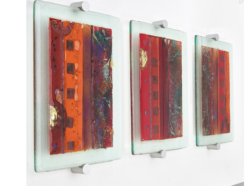 Wall Art Fused Glass : Fused glass wall art