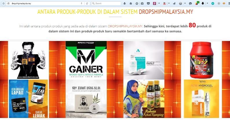 Produk Produk Dalam Platform DropshipMalaysia