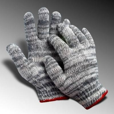 găng tay sợi len màu xám chất liệu dày dặn