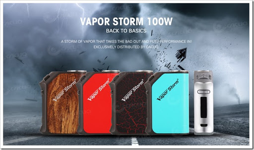 vapor storm 100W 01 thumb%25255B2%25255D - 【MOD】DNA?「VAPORSTORM Storm 100 VW/TC MODレビュー」DNAっぽい液晶が特徴【平凡ながら堅実エルゴノミクスデザイン】