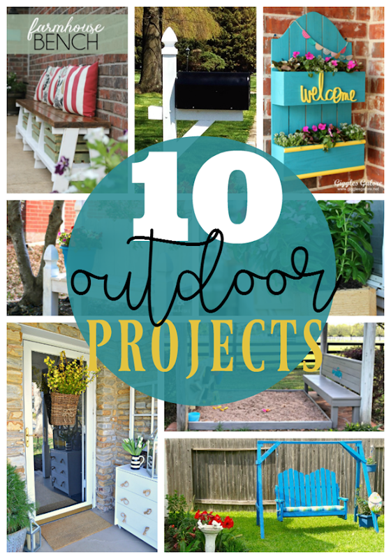 10 Outdoor Projects at GingerSnapCrafts.com #outdoor #DIY #forthehome