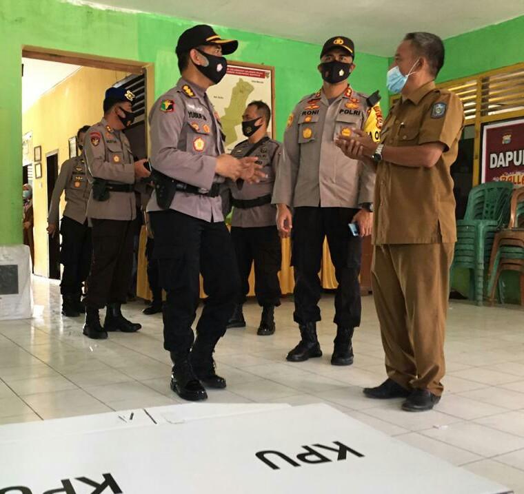 Pamatwil Polda Sulsel Bersama Kapolres Soppeng Monitoring Kesiapan Pilkada di Kabupaten Soppeng