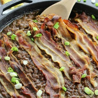 Meat Lovers Skillet Baked Beans.