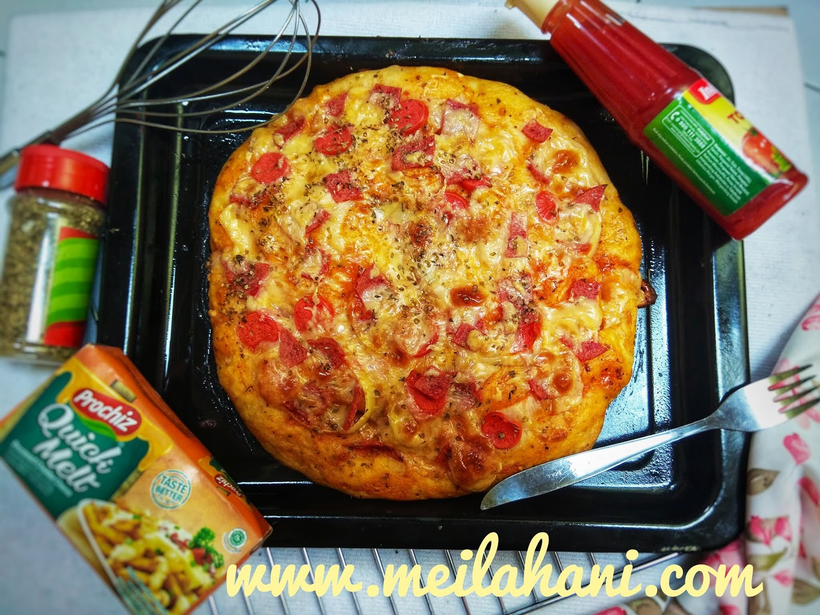 Resep Pizza tanpa ulen, No-Knead Pizza