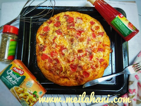 Resep Pizza Tanpa Ulen (No Knead-Pizza)