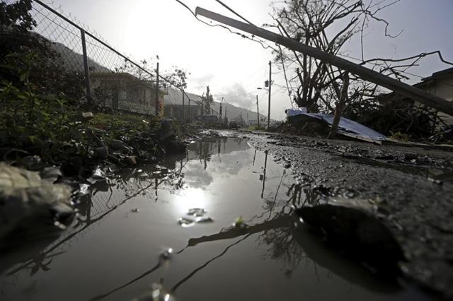 Downed power lines and debris are seen in the aftermath of Hurricane Maria in Yabucoa, Puerto Rico, Tuesday, 26 September 2017. Photo: The Star