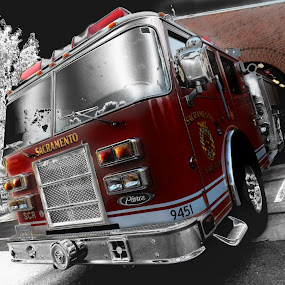 Engine.Engine by Brandon Rose - Novices Only Objects & Still Life ( red, engine, transportation, fire )