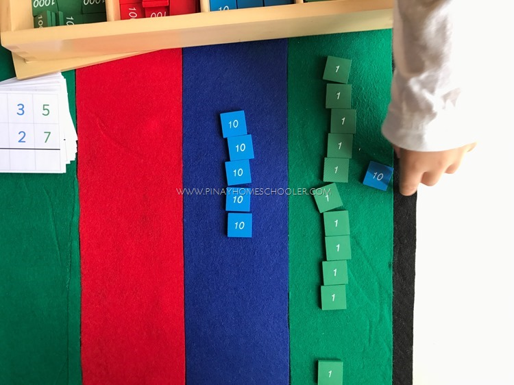 Montessori Stamp Game: Dynamic Addition