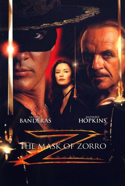 Poster Of The Mask of Zorro (1998) Full Movie Hindi Dubbed Free Download Watch Online At Alldownloads4u.Com