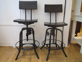 Industrial Stool Pair