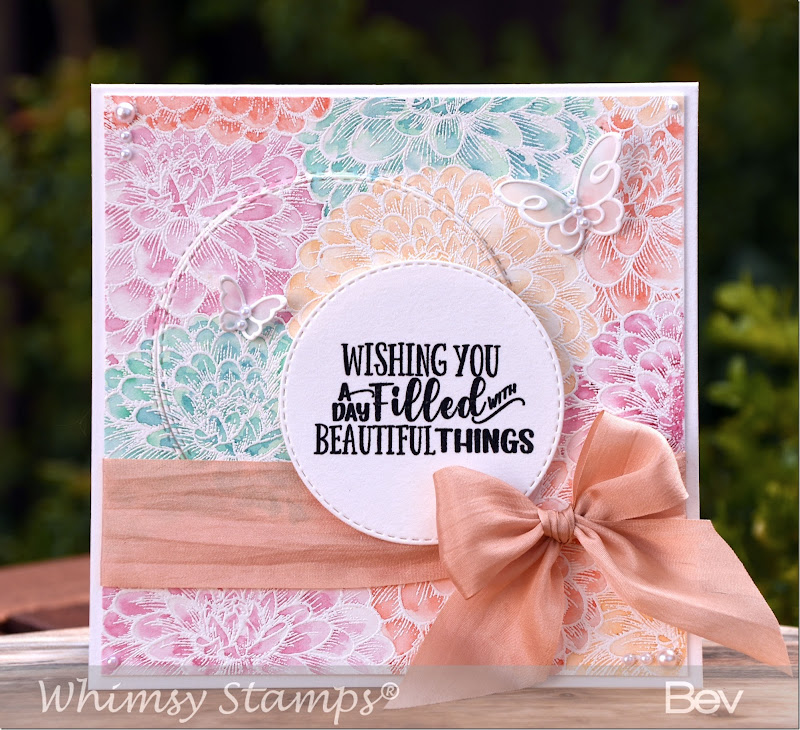 Bev-Rochester-Flower-Puffs-Background-&-Beauciup-Bouquet-Sentiments