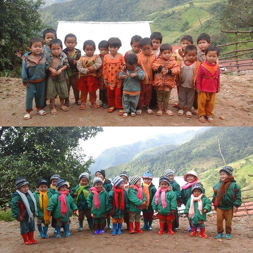 Gửi tình yêu thương vào áo ấm cho trẻ em vùng cao