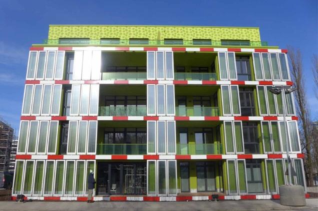 «Зеленый» дом BIQ House в Гамбурге