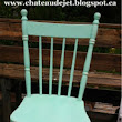 Mint distressed chair