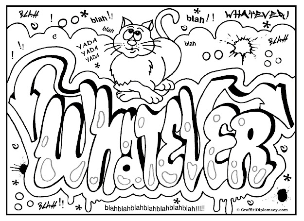 Graffiti Coloring Page Free Printable Graffiti Room Signs