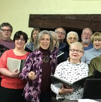 Photo 1- Crescent Singers in rehearsal