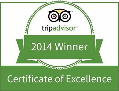 Rainforest Adventures is a TripAdvisor Certificate of Excellence Winner for 2014