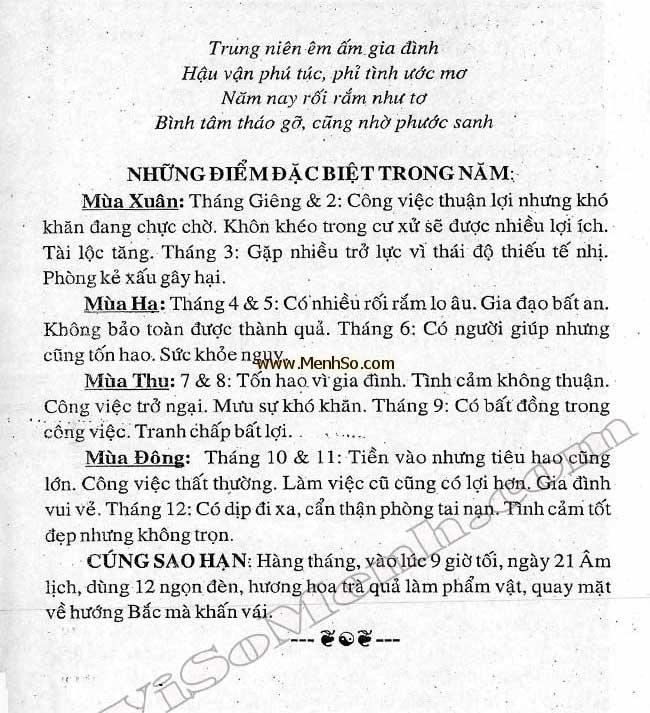 Xem tử vi 2016 tuổi Mậu Ngọ nam mạng