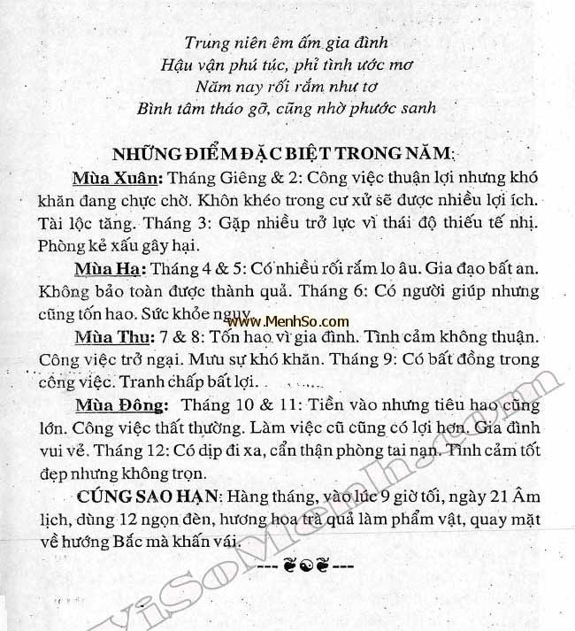 Xem tử vi 2018 tuổi Mậu Ngọ nam mạng