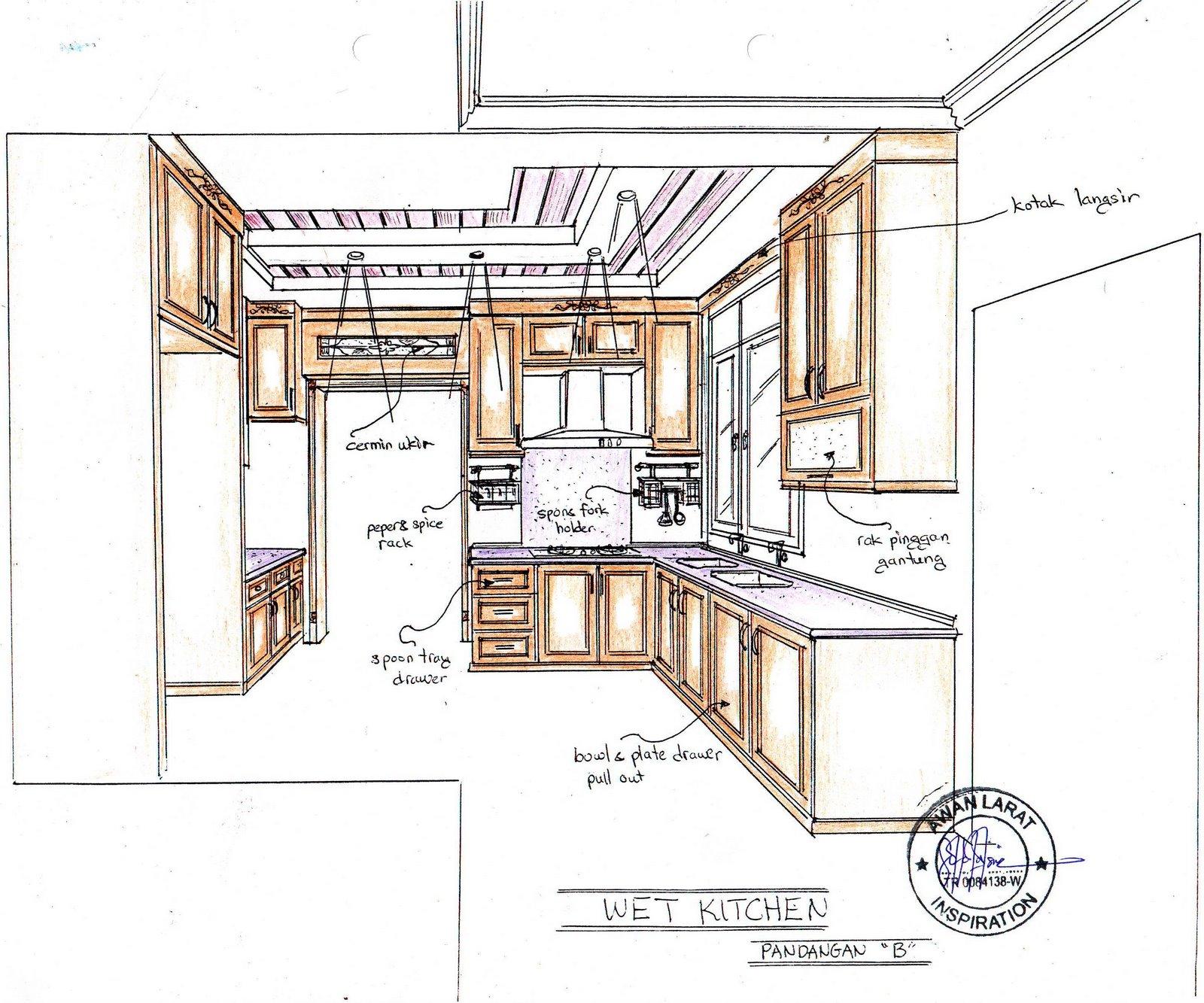 Ini Adalah Contoh Rekabentuk Perspektif Kabinet Dapur