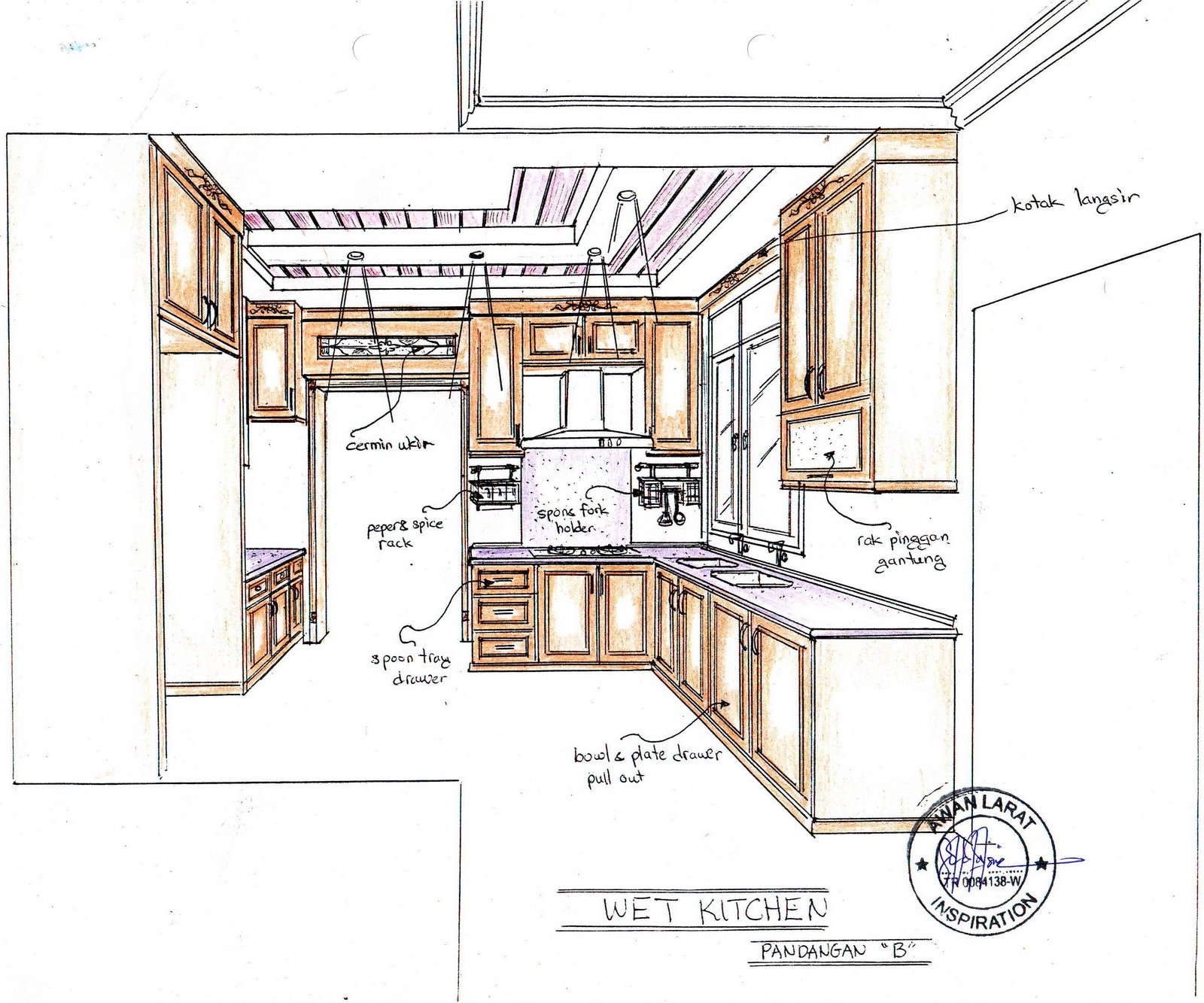 Kabinet Dapur Kerja Kayu Dan Hiasan Dalaman Panduan Rekabentuk