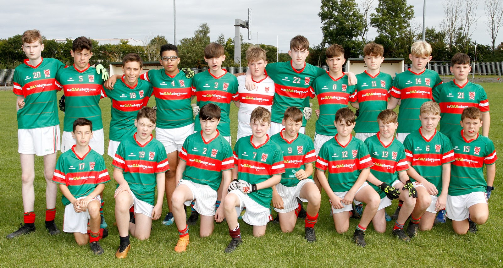 Garrycastle Under 14 team pictured ahead of their Championship clash with St. Josephs.