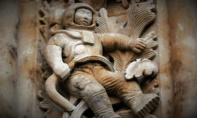 astronauta antigo da catedral salamanca