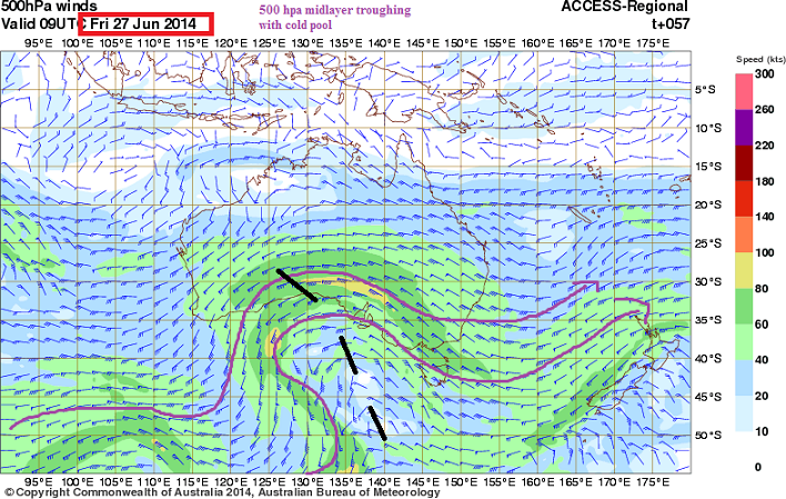28th June 2014 500 hpa mid layer