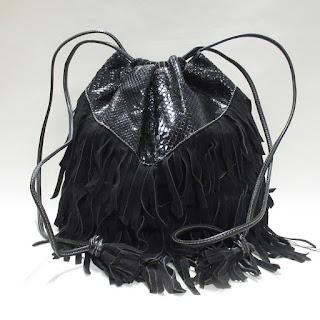 Prada Suede and Python Bucket Bag