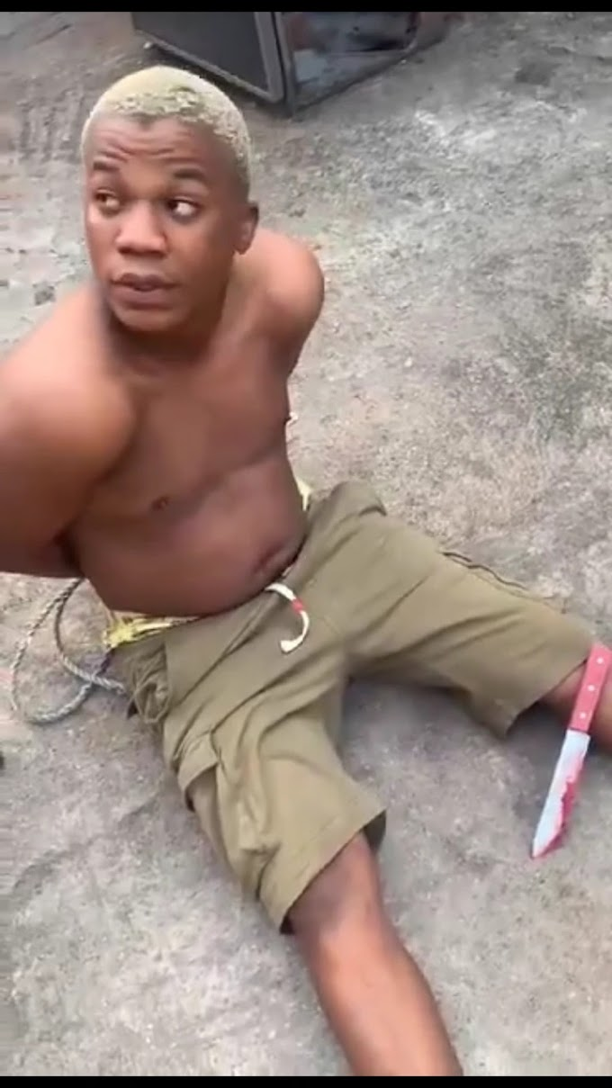 See The Young Guy That Used His Friend's Head For Money Ritual [PHOTO]