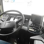 Het dashboard van de Volvo B12BLE FWS-IL van Connexxion