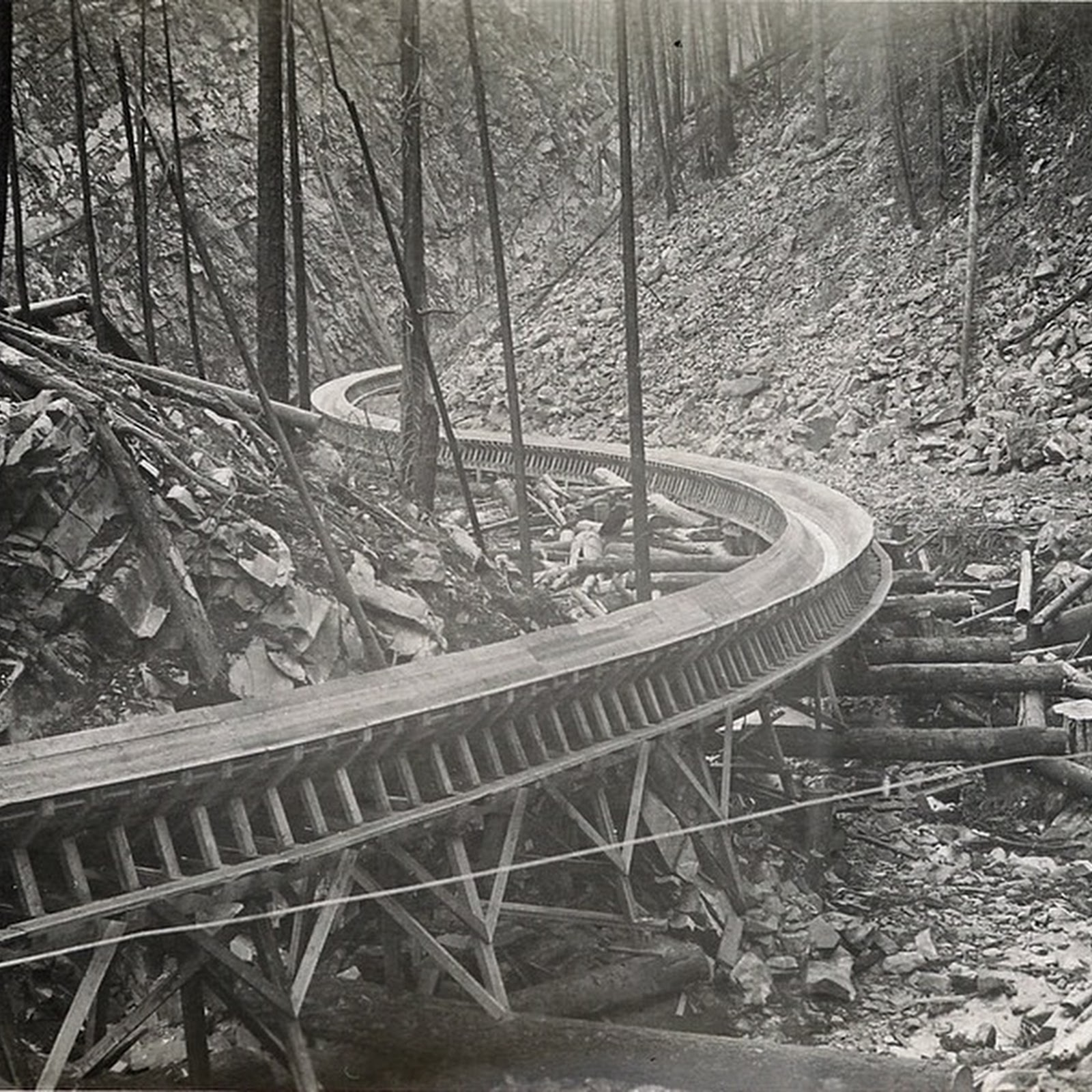 America's Last Log Flume