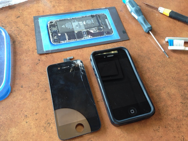 Here Is A Before And After Shot I Recommended To The Customer Vont Otter Box For Free Replacement As His Current One Has Few Cracks Broken