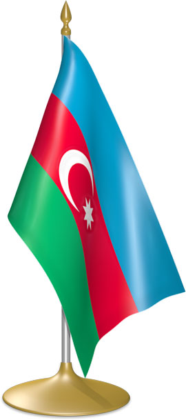 Azerbaijani table flags - desk flags