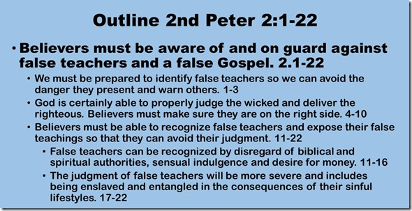 Outline 2 Peter 2.1-22