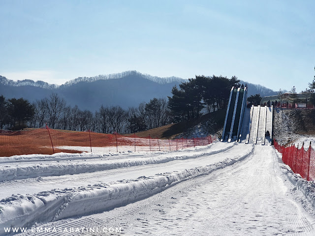 One day in Vivaldi Park Ski Wolrd