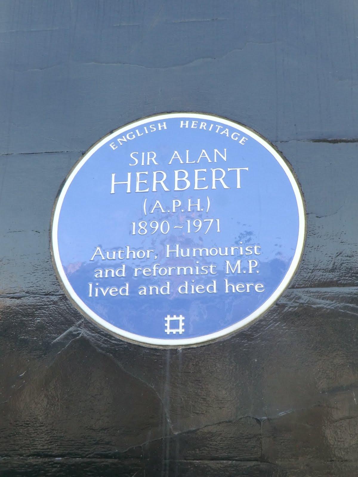 CIMG2551 A.P. Herbert plaque, Hammersmith Terrace