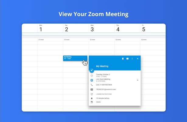 Zoom for Google Calendar - G Suite Marketplace