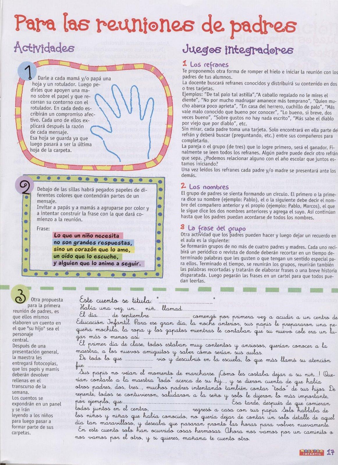 Carta Para Los Padres De Familia