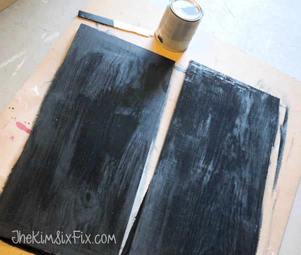 Painting boards black