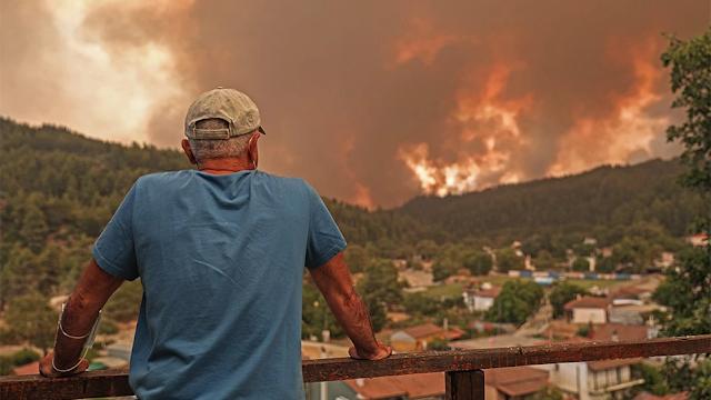 Φωτιά στην Εύβοια: Μια ανάσα από τους οικισμούς πριν την Ιστιαία οι πύρινες φλόγες