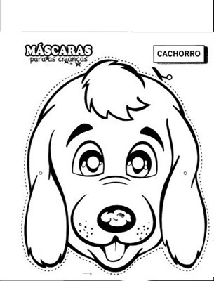 perro mascara de animales  para colorar (41)_thumb
