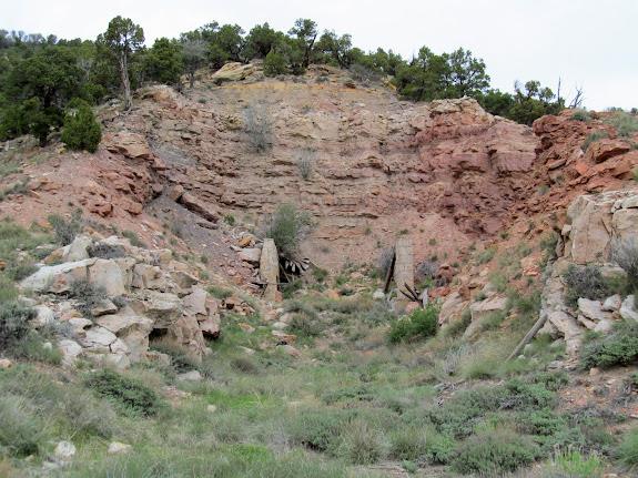 The now-buried Peerless Mine