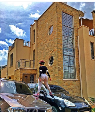 vera sidika shows off cars and house