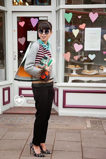 Leaf Greener; senior fashion editor; Balenciaga top; Celine trousers;