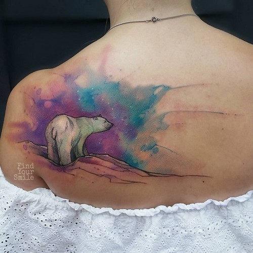 este_adorvel_urso_polar_aquarela_tatuagem