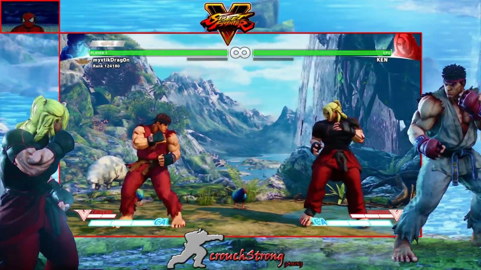 Street Fighter V Overlay   CrouchStrong