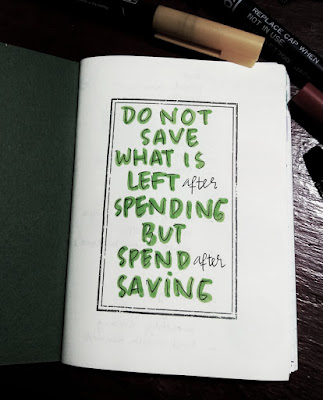 bujo financial ideas