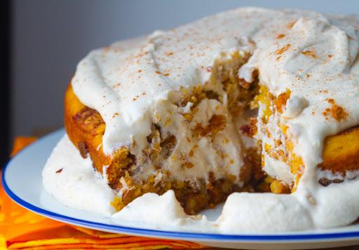 Cinnamon Bun Layer Cake Recipe