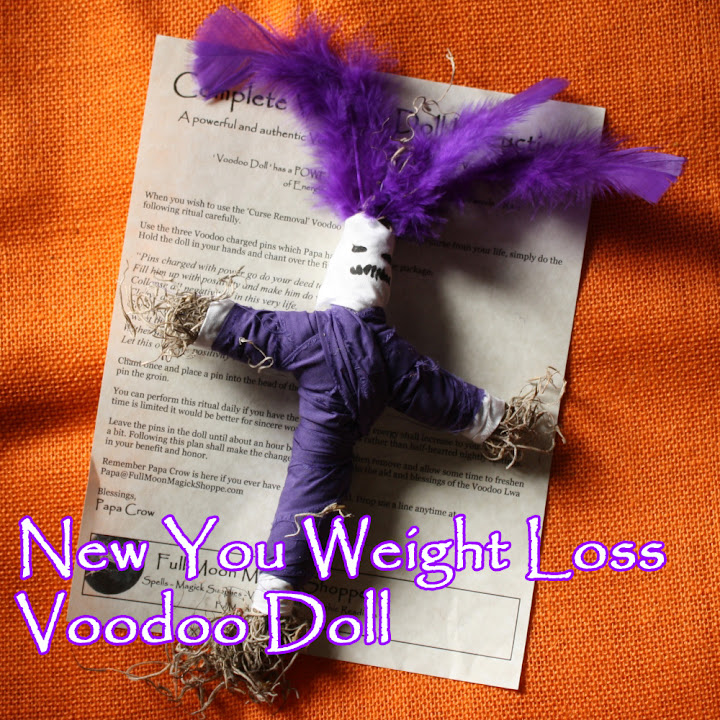 Details about Weight Loss New You Voodoo Doll Papa Crow Totem Fat Diet  Exercise Hoodoo Poppet
